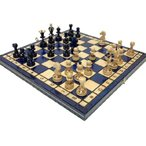 木製チェスセット:Gaia(ガイア)ブルー