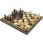 ショッピングボード 木と手作りの温もりポーランド製チェスセット:Calypso(カリプソ)ブラウン31cm×31cm 木製 数量限定 盤 駒 ゲーム数量限定販売