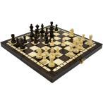 ショッピングボード 木と手作りの温もりポーランド製チェスセット:Olympia(オリンピア)ブラウン35cm×35cm 木製 chess駒盤 数量限定販売
