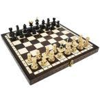ショッピングボード 木と手作りの温もりポーランド製チェスセット:Ares(アレス)ブラウン35cm×35cm 木製 chess駒盤 数量限定販売