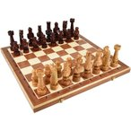 ショッピングボード 木と手作りの温もり特大高級木製チェスセット:Caesar(カエサル)59.5cm×59.5cm ポーランド製 chess駒盤 数量限定販売