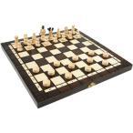 ショッピングボード 木と手作りの温もり木製チェス+チェッカーセット 35cm×35cm ポーランド製 chess & Checkers set駒盤 数量限定販売