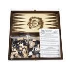 バックギャモン+チェス+チェッカーセット 木製 26.5cm×26.5cm ポーランド製 数量限定販売