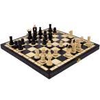 カラー チェスセット 木製 Charis/カリス ブラウン 35cm×35cm ポーランド製 数量限定販売