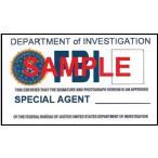 US レプリカ IDカード(FBI) 両面  IDホルダー付 送料164円