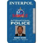 インターポール(INTERPOL)・国際刑事警察機構  IDカード(SFPD) 両面 IDホルダー付 送料164円