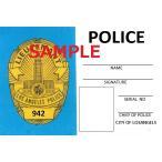 US レプリカ IDカード(LAPD警部補) 両面 IDホルダー付 送料185円