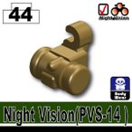 AFM ナイトビジョン PVS-14/ダークタン 単眼式/夜戦装備に!NVG/特殊部隊装備/ヘッドパーツ/フィグ用
