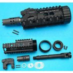 WA M4用 ビーストタイプ G&P WP64 Beast フロントセット/BK(黒・ブラック) ウェスタンアームズ マグナブローバック 検)ガスブロGBBVFCKSC