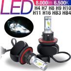 LEDヘッドライト H4 H11 HB3 H7 LEDバルブ 6500K 8000LM Hi/Lo 12/24V車 車検対応 カットライン ファンレス仕様 ヒートシンク冷却 フォグランプ