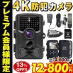 防犯カメラ 4K トレイルカメラ ワイヤレス 屋外 電池式 小型 sdカード録画 ケーブル 無線 モニターセット 動体検知 監視カメラ 800万画素