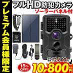 防犯カメラ フルHD ソーラーパネルセット トレイルカメラ ワイヤレス 電池式 小型 sdカード録画 モニターセット 録画機能付き 動体検知 監視カメラ 200万画素