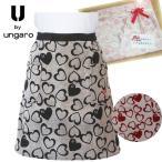 敬老の日 ハナエモリのブランドエプロン  カーネーション 造花付きラッピング無料 森英恵 日本製