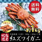 北海道産 紅 ズワイガニ【2尾セット】送料無料(ボイル:冷凍)(1尾500g~600g×2)