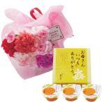 母の日 ギフト 贈り物 送料無料 カーネーション花束とまるごとみかんゼリーのセット / 2020 鉢花 鉢植え カーネーション スイーツ 花とセット 花