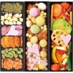 和菓子 ギフト 送料無料 OLD NEW 3缶セット(吹き寄せ、野菜、あられ) / お菓子 和菓子 おかき せんべい 煎餅 お煎餅 お菓子セット セット 詰め合わせ