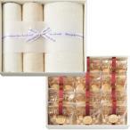 タオル ギフト 送料無料 オーガニックコットンタオル&クッキーセット(COE-C) / セット 詰め合わせ タオルセット ギフトタオル 内祝い 御祝い 出産内祝い