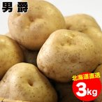 出荷開始 越冬じゃがいも 送料無料 北海道産 男爵薯(M-2L混合) 1箱3キロ入り / 3kg 男爵 男爵芋 だんしゃく いも ジャガイモ 北海道 野菜