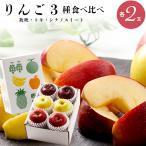 2021年ご予約承り中 10月出荷開始 ギフト フルーツ りんご 送料無料 りんご3種 食べ比べ (秋映・トキ・シナノスイート 各2玉) / 果物 ギフト