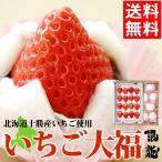 お菓子 ギフト 贈り物 フルーツ 北海道産 銀龍苺 さがほのか使用 生クリーム入いちご大福 / イチゴ大福 スイーツ 和菓子