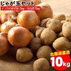 出荷開始 越冬じゃがいも 送料無料 北海道産 じゃが玉セット インカのめざめ 5kg(S〜2L混合)&玉ねぎ 5kg(L〜L大)合計10kg / 10キロ 野菜セット