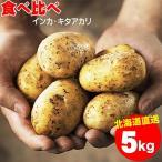 2021年ご予約承り中 10月出荷開始送料無料 北海道産 じゃがいも食べ比べセット 5kg(キタアカリ3kg・インカのめざめ2kg) / 5キロ 食べくらべ セット