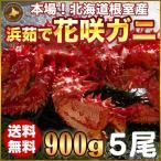 お歳暮ギフト / 花咲ガニ900g×5尾希少な花咲ガニ
