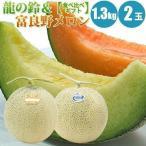 お中元 御中元 ギフト 龍の鈴メロン 富良野メロン 食べ比べセット 1玉 1.3kg× 2玉 お中元 果物