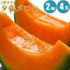 夕張メロン 2kg× 4玉 メロン 夕張メロン 北海道 通販