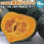 カボチャセット 北海道産 栗味 かぼちゃ 4玉〜10玉合計10...