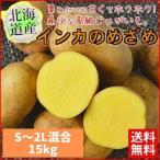 予約受付中【送料無料】北海道産 インカのめざめ 新じゃが 15kg(S〜2L混合) ほくほく 期間限定【農家直送】常温便 お取り寄せ 贈り物