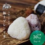 米 30kg お米 安い 送料無料 北海道 直送 5kg 6袋 小分け 極上ブレンドの画像