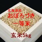 新米 北海道産おぼろづき 一等米 玄米5kg (平成28年産)