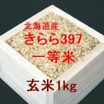 新米 北海道産きらら397 一等米 玄米1kg (平成28年産)