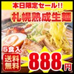 タイムセール799円 送料無料 新発売 北海道 ラーメン 5食セット 札幌熟成生麺 5種食べ比べ  1食179円