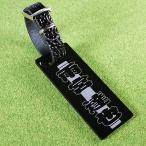 ゴルフネームタグ 籠文字デザイン ブラック