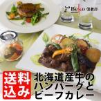 Yahoo!北海道の牛肉屋さんBeko倶楽部新商品!お試し送料無料/北海道ビーフのカレーとハンバーグのセット/北海道産牛、無添加ハンバーグ