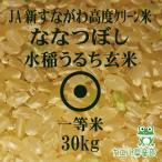 令和2年産 高度クリーン米 ななつぼし 玄米 30Kg 北海道米 一等米 JA新すながわ 減農薬特別栽培米