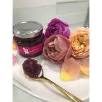 エディブルローズで作った薔薇ギフトセット 薔薇ジャム(固形タイプ)70g・薔薇ジャム(ゆるめタイプ)150g・薔薇フレンチドレッシング150g
