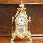 ショッピングイタリア イタリア製 置時計 ゴールド レッド 真鍮 大理石 エレガント おしゃれ 高級家具 アンティークヨーロピアン