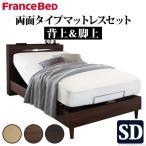 電動ベッド フランスベッド セミダブルベッド 2モーター 電動リクライニングベッド 両面タイプマットレスセット