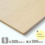 ベニヤ板 シナベニヤ 準両面 厚さ9mmx巾300mmx長さ300mm 0.41kg 木材 DIY オーダー カット しな F4