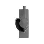 不二サッシ住宅部品 サッシ サッシ用クレセント:NFK80 テラスタイプ(右勝手) シルバー クレセント・受け(1NFK CB5620NR)