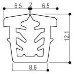 YKKAP窓サッシ 部材 ガラスビート カット品:13mm開口・ガラス厚5mm用(K-2439)1m