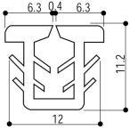 YKKAP窓サッシ 部材 ガラスビート カット品:11mm開口・ガラス厚3・4mm用(K-7413)1m
