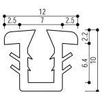 YKKAP窓サッシ 部材 ガラスビート カット品:9mm開口・ガラス厚3mm・4mm用(K-6426)1m