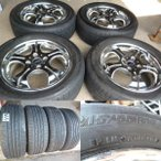 215/55R17  BS NEXTRY  WORK EURO LINEアルミ付 4本セット