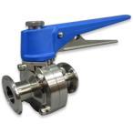 サニタリーバタフライバルブ SUS304 CBE-FS1-1.5S  禁油バルブ ステンレス