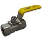 (在庫品)ボールバルブ SCS13A CSE-15A Rc1/2 ねじ込み 禁油バルブ ステンレス