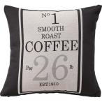 ショッピングプリント プリントクッション コーヒー袋柄 正方形 45cm×45cm コットン (綿)入り (インテリア雑貨) TTC-104